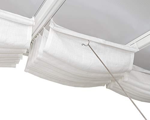 Palram 3X5.46 Terrassenabdeckung Dachjalousien, Weiß
