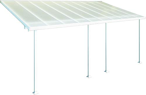 Hochwertige Aluminium Terrassenüberdachung, Terrassendach 300x610 cm (TxB) - weiß