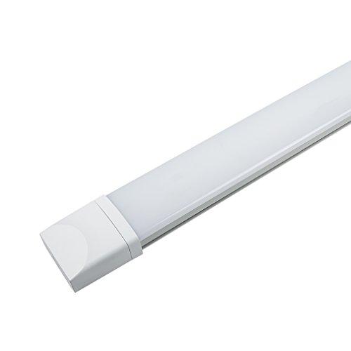 J&C Flache LED Feuchtraumleuchte 60cm 18W Ultraslim, Tageslicht 4000k 1400 Lumen, IP65 Wasserfest für Einsatz im Aussenbereich geeignet, Keller, Werkstatt, Hobbyraum