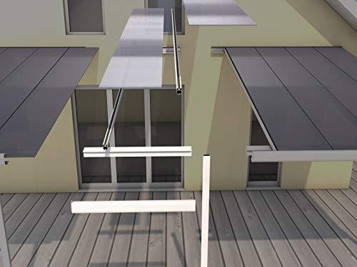 Gutta Terrassenüberdachung Erweiterungsmodul Bausatz (1200 x 3080 mm, Anthrazit)