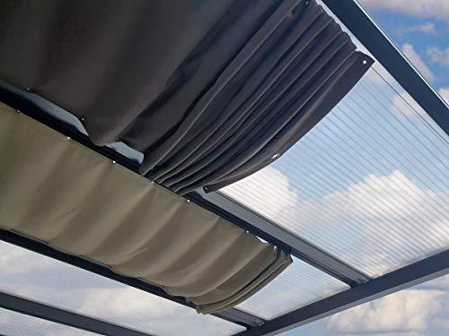 ACRYLSHOP24 Terrassenbeschattung | Beschattung individuell auf Maß | Seilspannmarkise inkl. Montagematerial | Farbe: Golden Crops