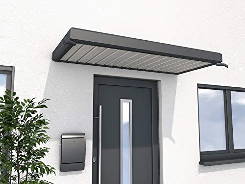 Gutta Rechteckvordach Vordachsystem Türdach 200x900mm Anthrazit 7210716