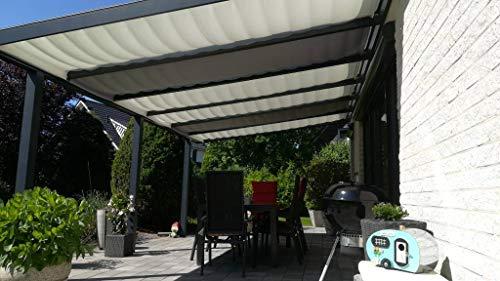Götz Gardinen Maß-Konfektion Terrassenbeschattung Beschattung Glasdach Komplettset Terrassendach Beschattung Maßanfertigung
