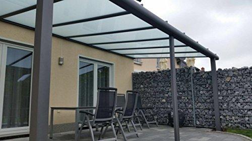 Terrasseüberdachung / Terrassendach Classico S aus Aluminium mit VSG Glas klar 10.2 RAL 7016 Anthrazitgrau