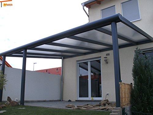 Hochwertige Terrassenüberdachung Schweng Alu 16mm Polycarbonatplatten B: 6,00m x 4,50m T