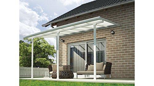 Terrassendach, weiß (BxT: 425 x 295 cm) einbrennlackiert, 295 cm, weiß