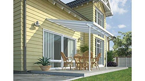Terrassendach, weiß (BxT: 305 x 295 cm) einbrennlackiert, 295 cm, weiß